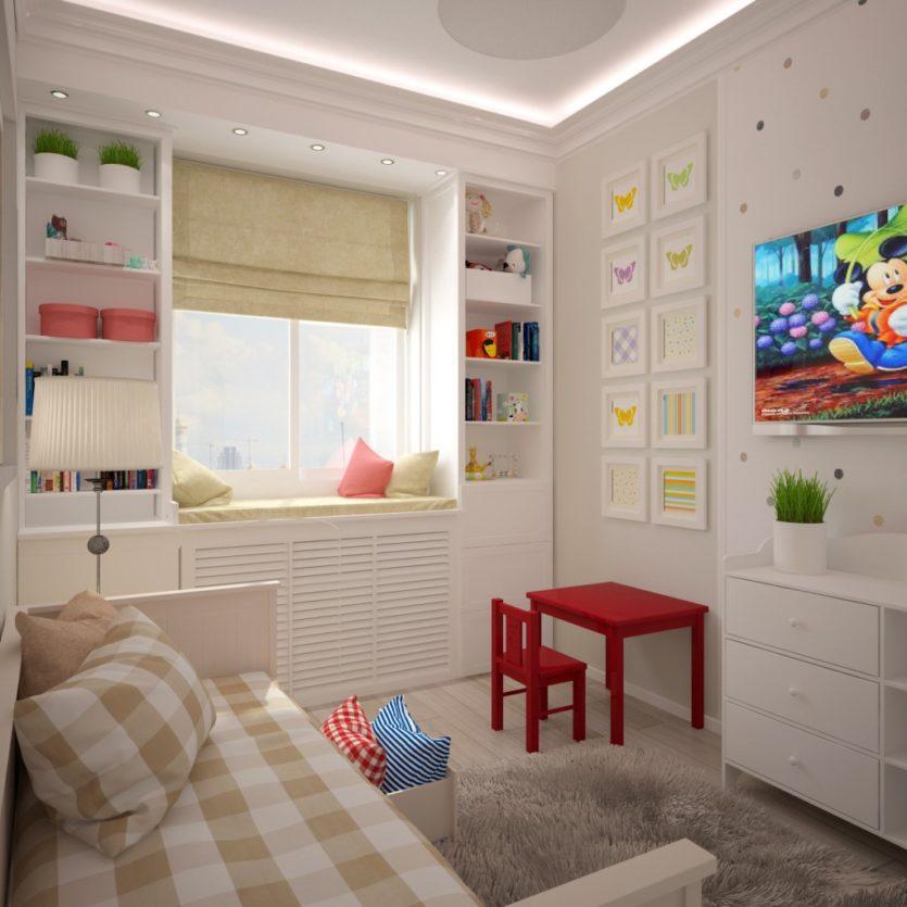 Детская 9 кв.м дизайн