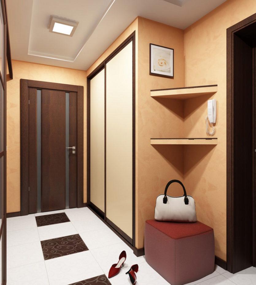 Небольшой коридор дизайн в квартире