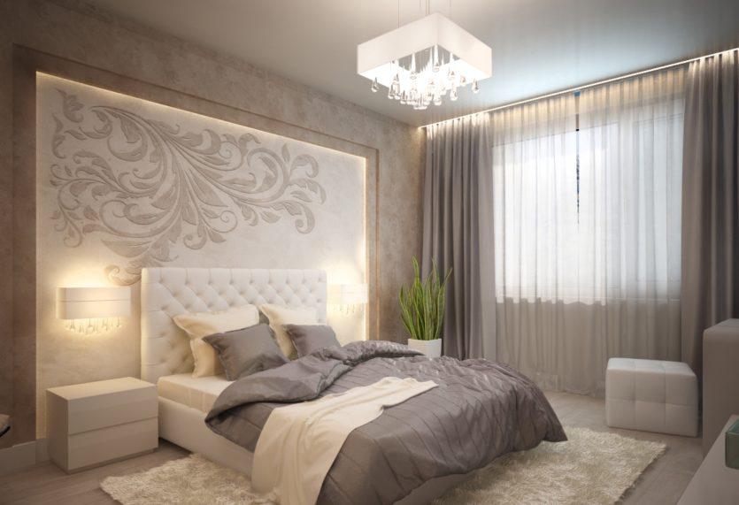 Спальня 14 кв м дизайн реальные