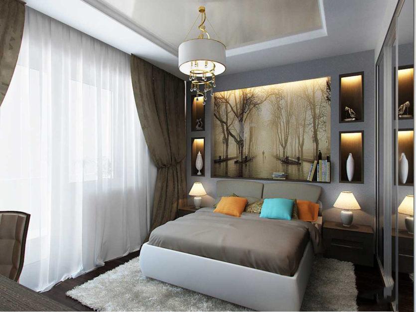 Идеи для спальни 13 кв.м фото