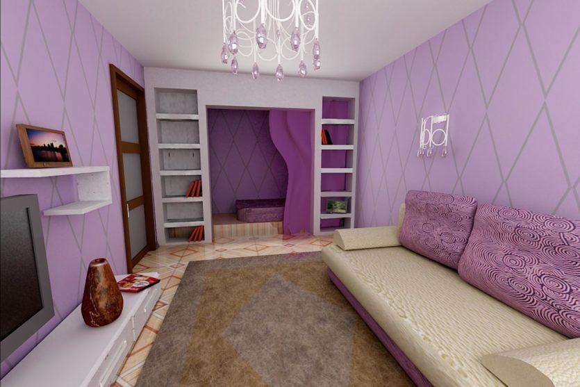 Дизайн комнаты для гостей 12 кв.м