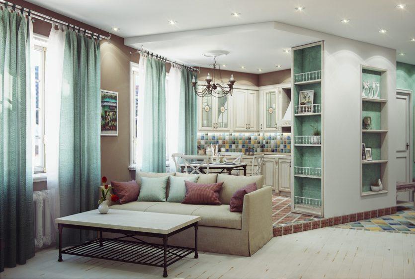Дизайн маленькой квартиры в стиле прованс