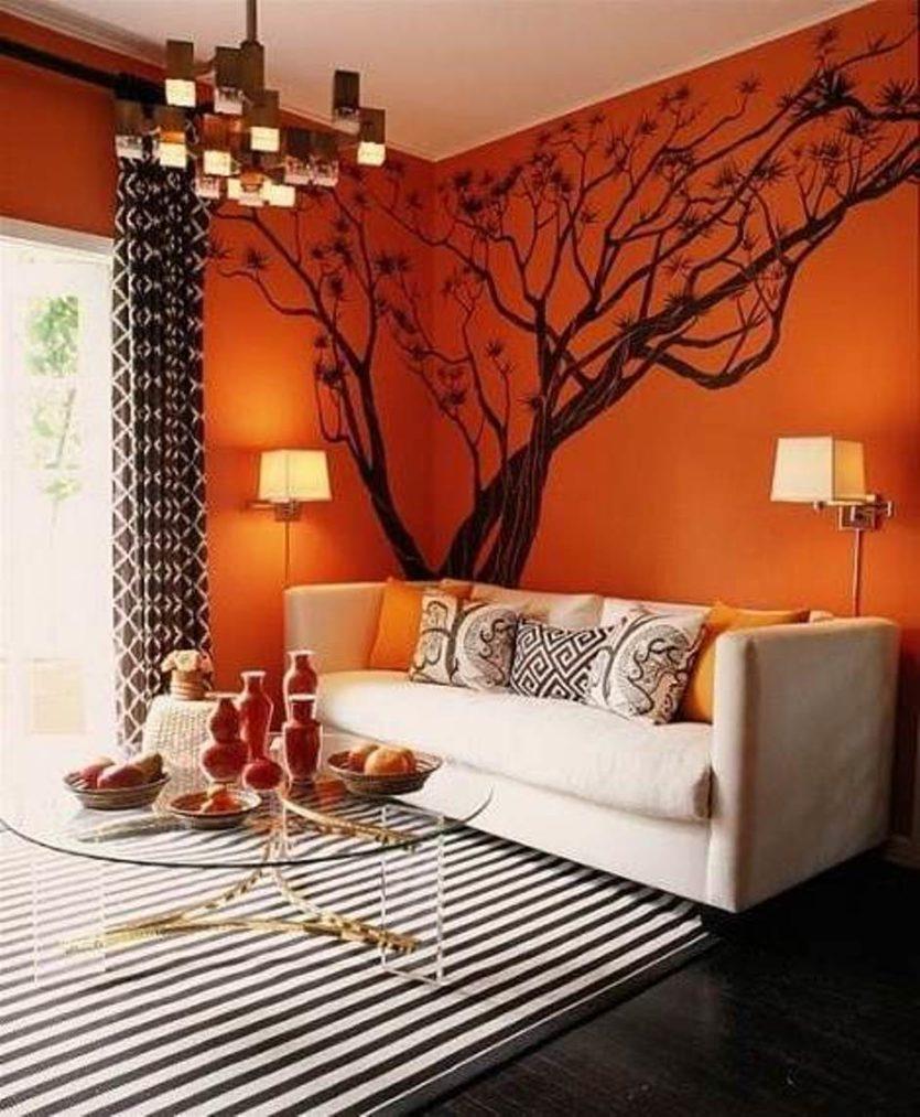 Фото оранжевый в интерьере