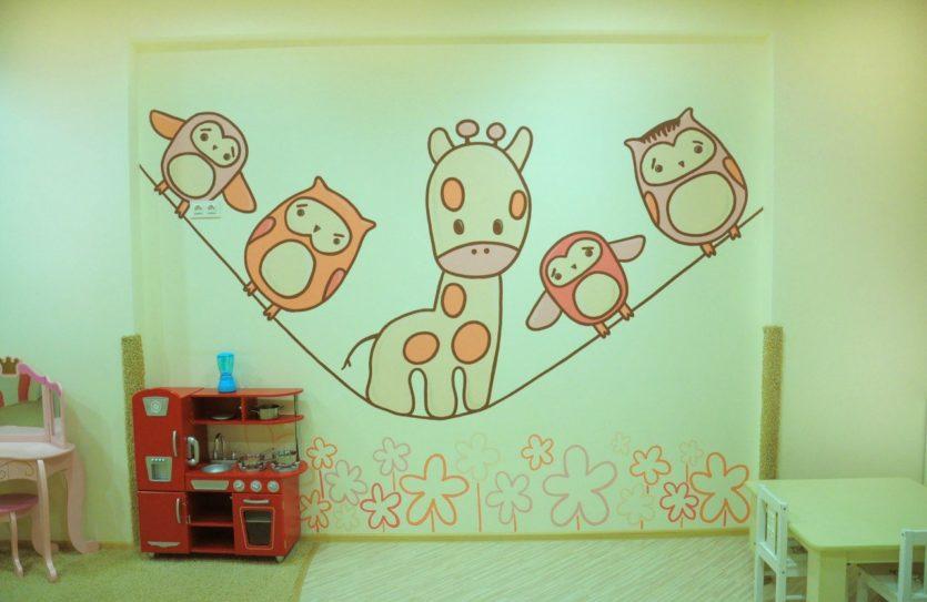 Как разрисовать стену в детской
