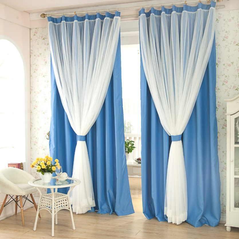7stories Refined lace window curtains living room balcony curtains shading top greade modern simplicity two layers