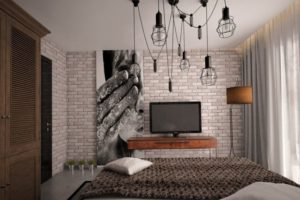 Spalnya v stile loft 16