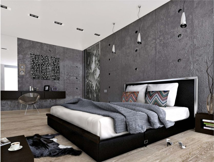 Spalnya v stile loft 44