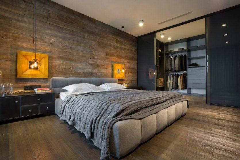 Spalnya v stile loft 60