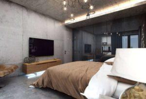 Spalnya v stile loft 7
