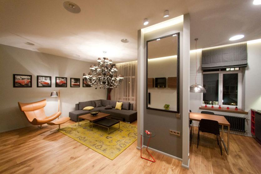 Планировка однокомнатной квартиры - нестандартные решения современного  дизайна